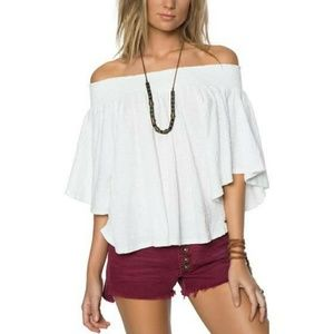 Like New O'Neill Off The Shoulder Top